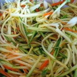 Stir-Fry Julienned Summer Vegetables