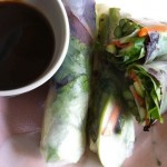 Roasted Asparagus Spring Rolls with Hoisin Sauce