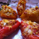 Corn and Cheese Stuffed Sweet Peppers