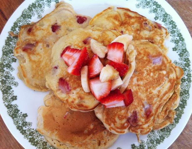 Strawberry Banana Pancakes