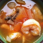 Thai Spicy and Sour Soup with Shrimp