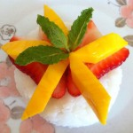 Strawberry Mango Coconut Sticky Rice
