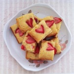 Strawberry White Chocolate Blondie