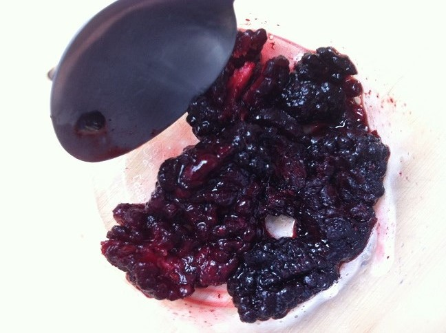 Mashed blackberries