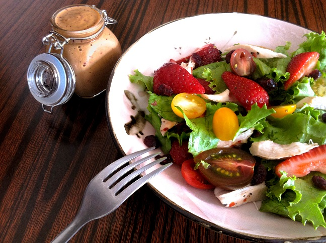 Roasted Chicken and Strawberry Salad| Cooking with a Wallflower