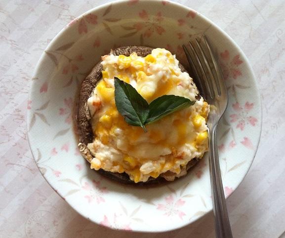 Creamy Shrimp and Corn Stuffed Portobello Mushrooms | Cooking with a Wallflower