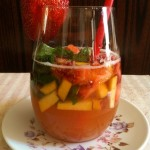 Peach Strawberry Mint Infused Club Soda