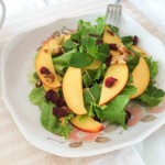 Nectarine, Walnuts, and Dried Cranberry Salad