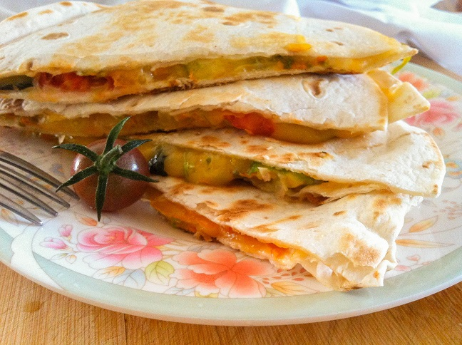 Squash Blossom Quesadillas | Cooking with a Wallflower