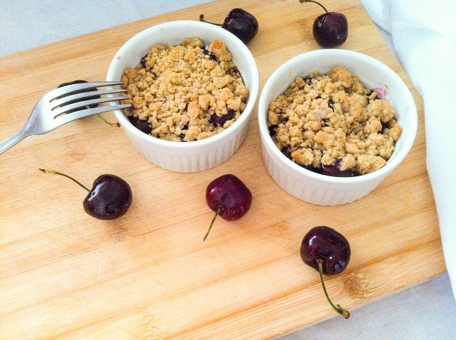 Sweet Cherry Crumble | Cooking with a Wallflower