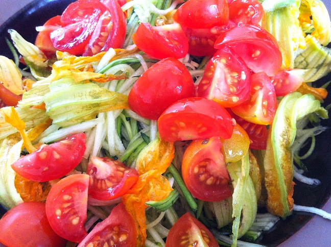 Zucchini and Squash Blossom Salad   Cooking with a Wallflower