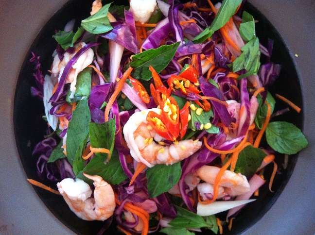 Shrimp and Lotus Rootlet Salad