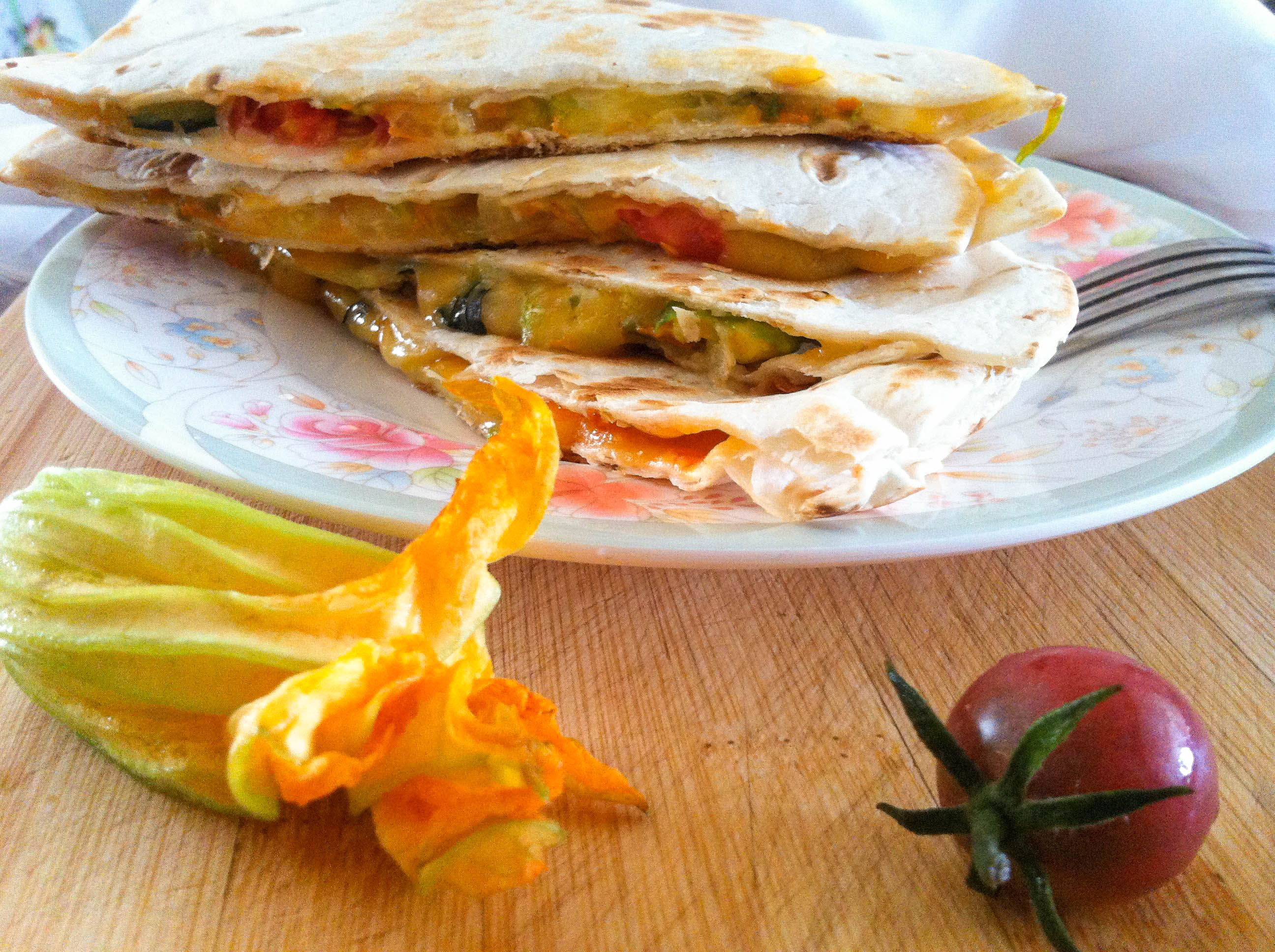 ... squash and tomatoes and tomatoes squash blossom quesadillas with bacon