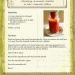 Strawberry Lemonade Smoothie Recipe Card