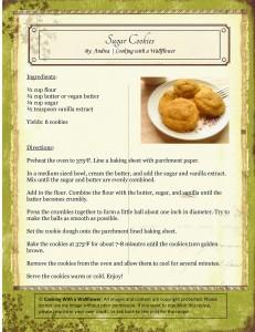 Sugar Cookies Recipe Card
