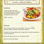 Zucchini and Squash Blossom Salad Recipe Card