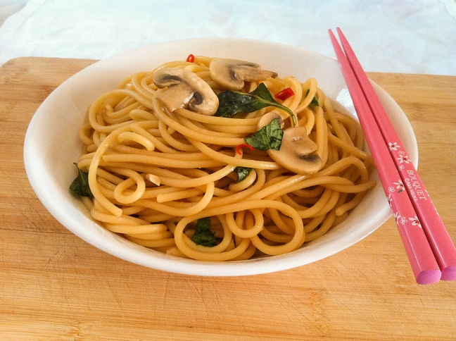 Basil Garlic Noodle