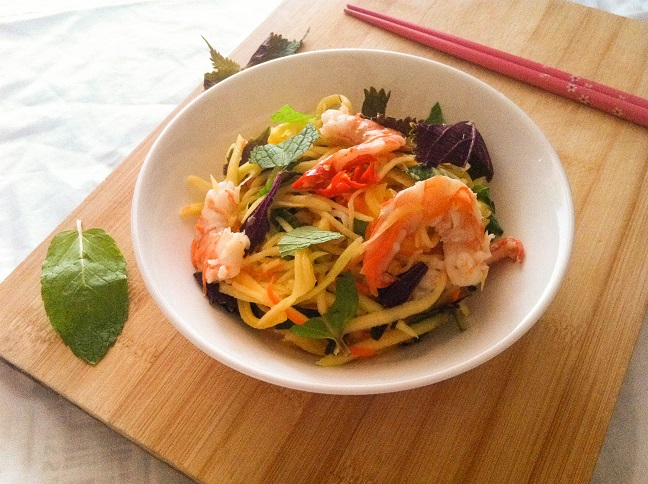 Shrimp Mango Salad | Cooking with a Wallflower