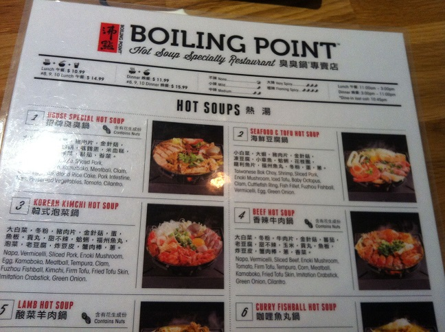 Boiling Point Menu