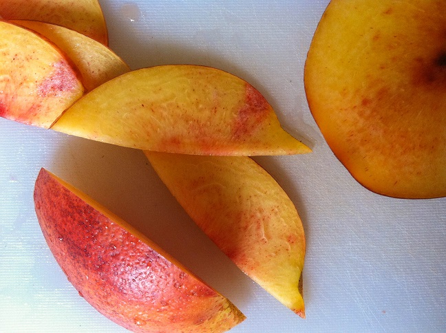 Sliced Nectarines| Cooking with a Wallflower