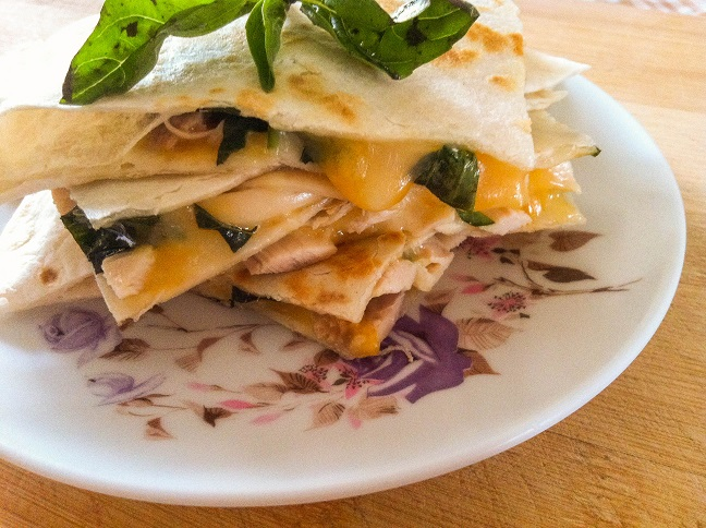 Basil Chicken Quesadillas | Cooking with a Wallflower