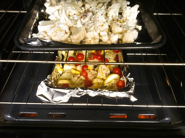 Baking Pan in the Oven