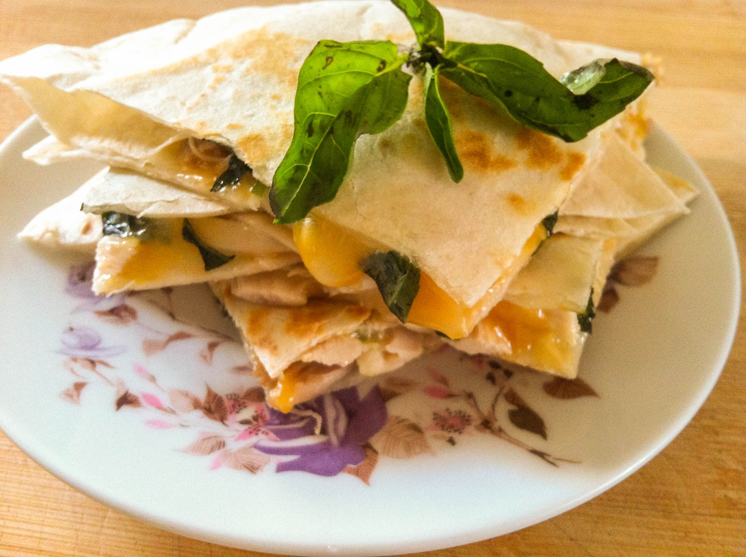 Basil Chicken Quesadillas