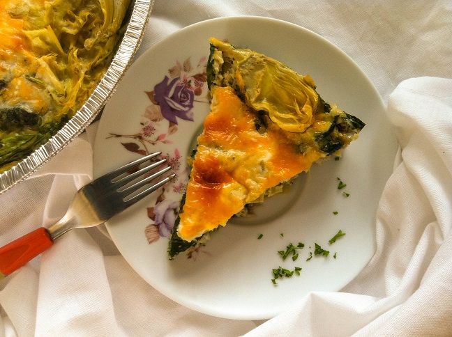 Crustless Spinach Artichoke Quiche | Cooking with a Wallflower