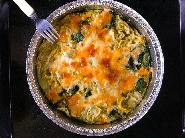 Crustless Spinach Artichoke Quiche   Cooking with a Wallflower
