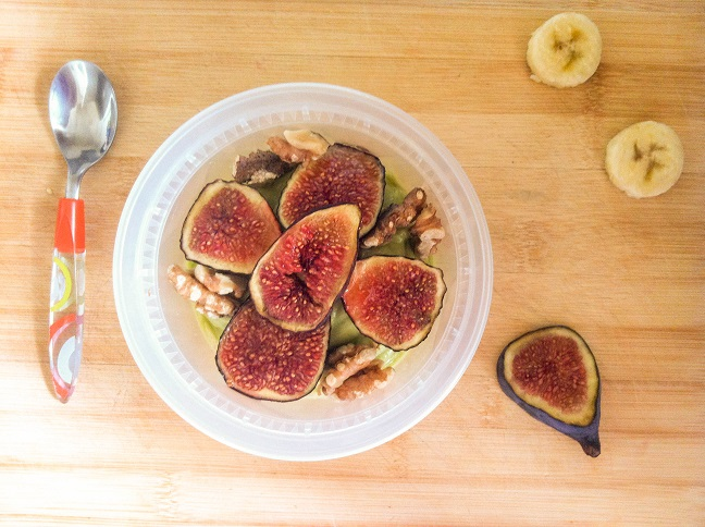 Avocado Coconut Banana Bowl with Roasted Figs and Walnuts   Cooking with a Wallflower