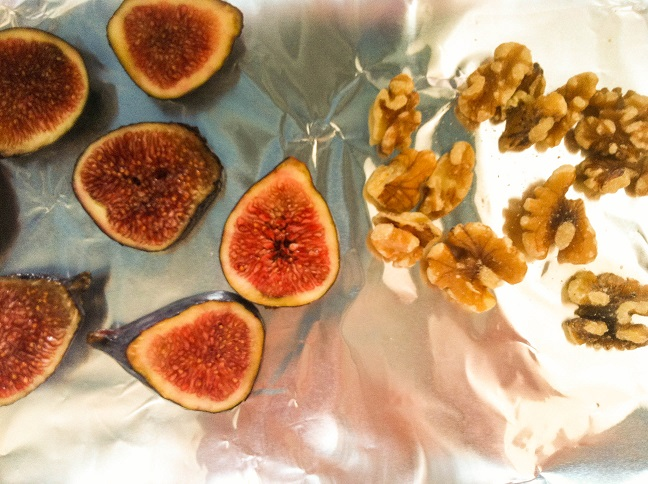 Avocado Coconut Banana Bowl with Roasted Figs and Walnuts | Cooking with a Wallflower
