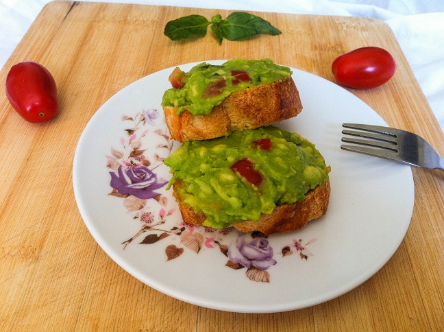 Avocado Tomato Basil Toast | Cooking with a Wallflower