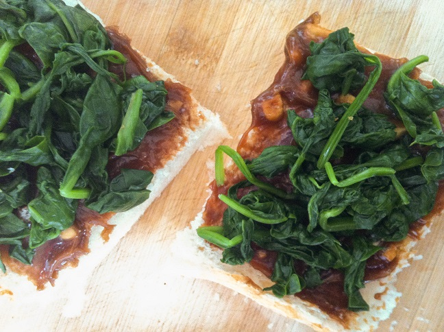 Asian Inspired Spinach Tomato French Bread Pizza | Cooking with a Wallflower