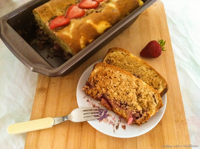 Strawberry Cream Cheese Bread | Cooking with a Wallflower
