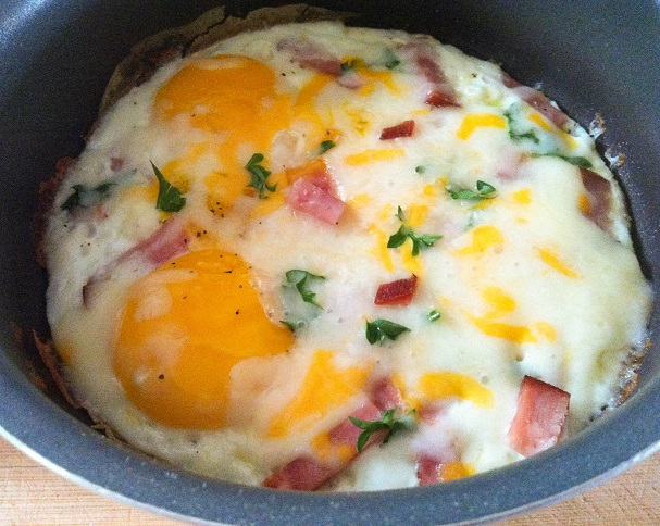 Ham and Cheese Braised Eggs | Cooking with a Wallflower