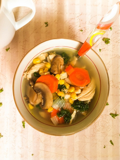 Chicken Kale Vegetable Soup | Cooking with a Wallflower