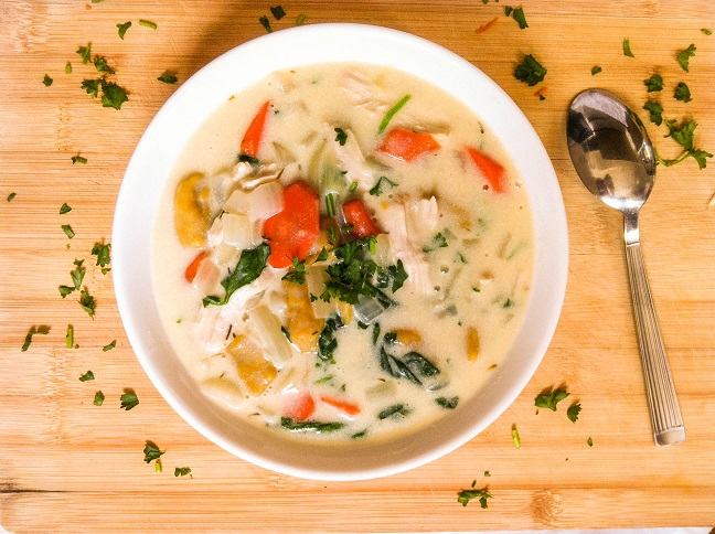Creamy Chicken and Pumpkin Gnocchi Soup   Cooking with a Wallflower