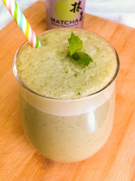 Green Tea Coconut Milkshake | Cooking with a Wallflower