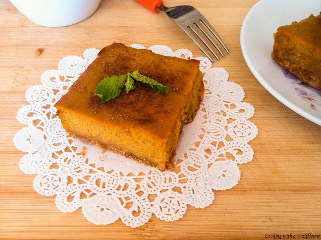 Pumpkin Pie Bars | Cooking with a Wallflower