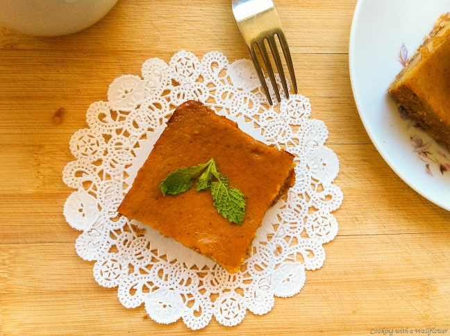 Pumpkin Pie Bars | Cooking with a Wallflower