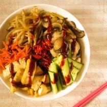 Vegan Soba Noodle Bibimbap | Cooking with a Wallflower