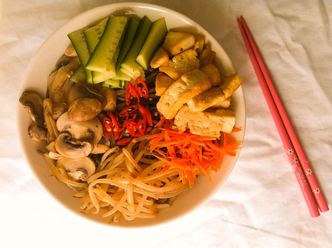Vegan Soba Noodle Bibimbap | Cooking with a Wallflower