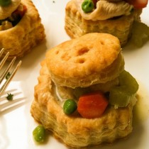Chicken Pot Pie Puff Pastries | Cooking with a Wallflower