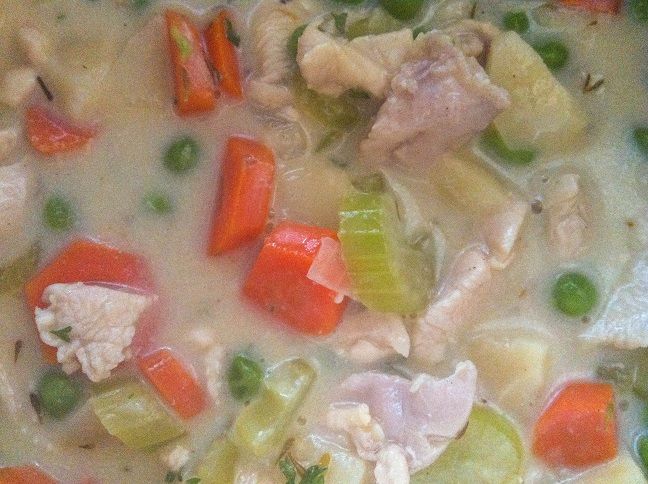 Creamy Chicken Pot Pie Soup | Cooking with a Wallflower