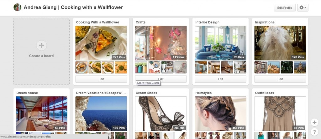 Creating Boards on Pinterest
