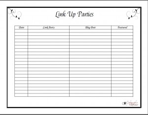 Link Party Printable