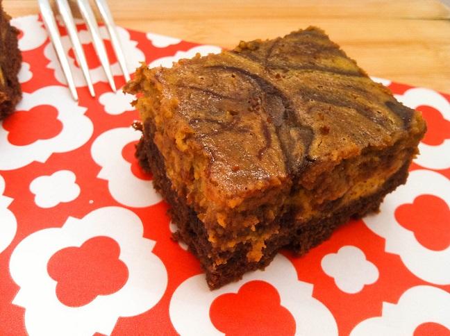 Pumpkin Cheesecake Swirled Brownies | Cooking with a Wallflower
