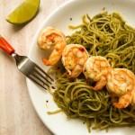 Spicy Lime Shrimp Pesto Pasta