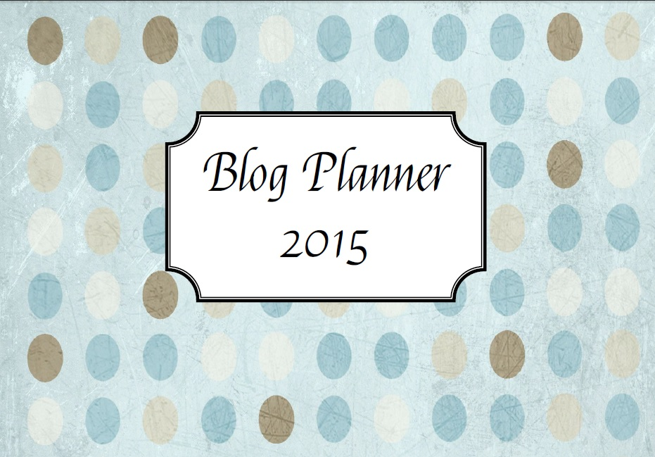 Blog Planner 2015 Cover | Cooking with a Wallflower