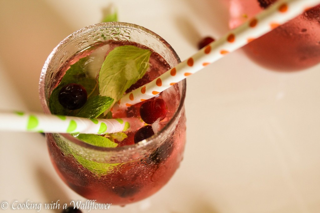 Cranberry Mint Lime Sparkling Water | Cooking with a Wallflower